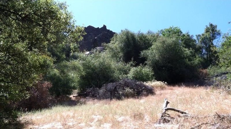 Rock Climbing Photo: A view of the Willowwacks Wall from the approach, ...