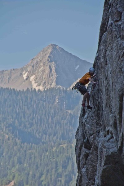 Rock Climbing Photo: up higher on the route