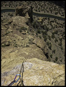 Rock Climbing Photo: Looking from the summit of Brogan Spire down the v...
