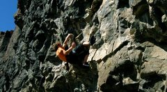 Rock Climbing Photo: Joe Crane attempts the onsight.