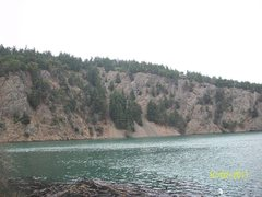 Rock Climbing Photo: Here is the Cliff with the mine. A very important ...