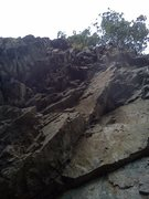 Rock Climbing Photo: This is looking up so what looks like a ton of han...