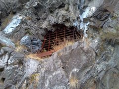 Rock Climbing Photo: After an accident the mine was blocked off. With t...