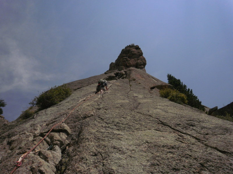 Rock Climbing Photo: Wayne on the best part....  If you belay from wher...