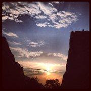 Rock Climbing Photo: Sunrise in Eldo.