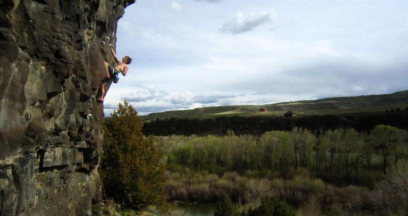 Rock Climbing Photo: Sam Perkins halfway up What's the Point?