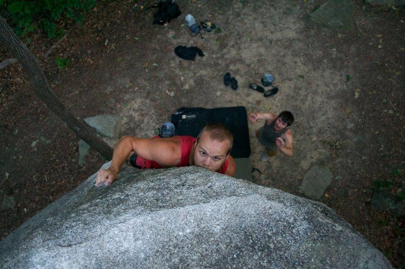 Rock Climbing Photo: TJ Sanford on Yellow Arete