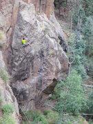 Rock Climbing Photo: John Crawley climbing Cat Wagon.