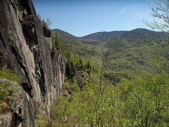 Rock Climbing Photo: Looking down right at The King Wall, from The Prin...
