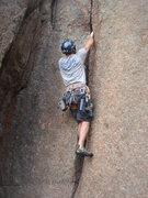 Rock Climbing Photo: Scott in the crux.