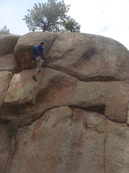 Rock Climbing Photo: Anyone know this line?  We started in the cave, le...
