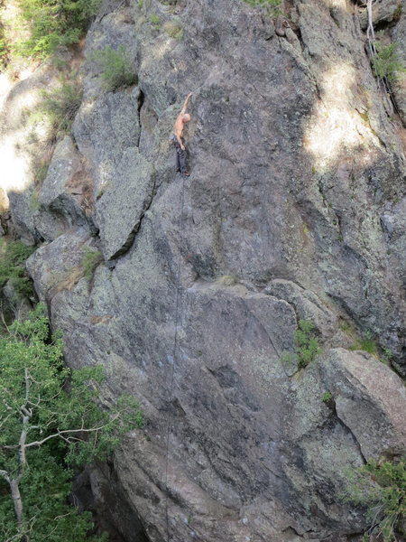 Rock Climbing Photo: EFR enjoying some easy romping at the top of Road ...