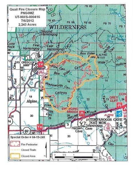 Quail Fire closure map 070612