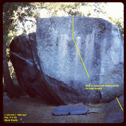 Rock Climbing Photo: Just to the right of the AH face there is a cool r...