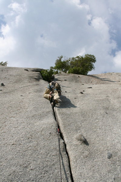Rock Climbing Photo: bushwack crack 5.8 **