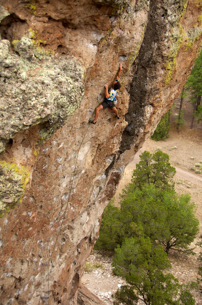 Rock Climbing Photo: Nearing the end of the difficulties of Grendel. Ju...