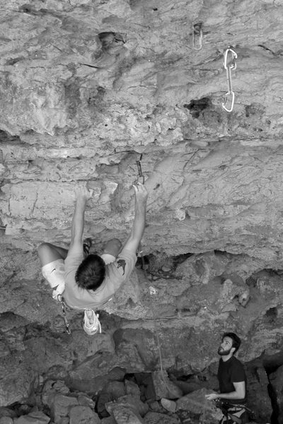 Rock Climbing Photo: Chris clipping the second bolt on White Trash 12a ...