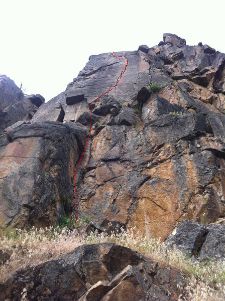 Rock Climbing Photo: Continue past bomber gear placements to a 2 chain ...