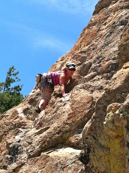 Rock Climbing Photo: Ridgeback - Beginning of the route