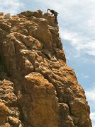 Rock Climbing Photo: Great exposure at the top overlooking the San Manu...