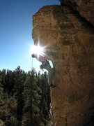Rock Climbing Photo: Mr. Slate 5.10b (climber: David Jaeger)