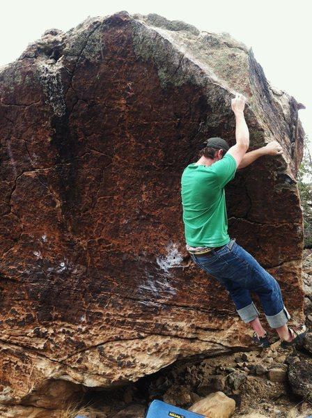 Rock Climbing Photo: Working Blind Melon.