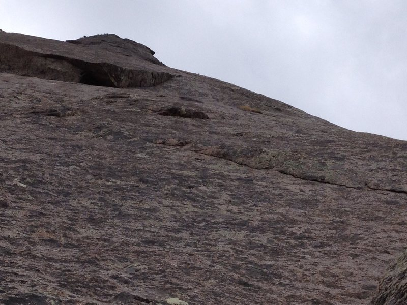 Rock Climbing Photo: Looking up at our 5th pitch.  We went right, prote...