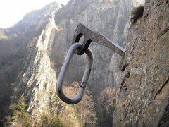 Rock Climbing Photo: Huge Pin