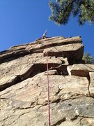 Rock Climbing Photo: At the top of the unknown 11a - first one complete...