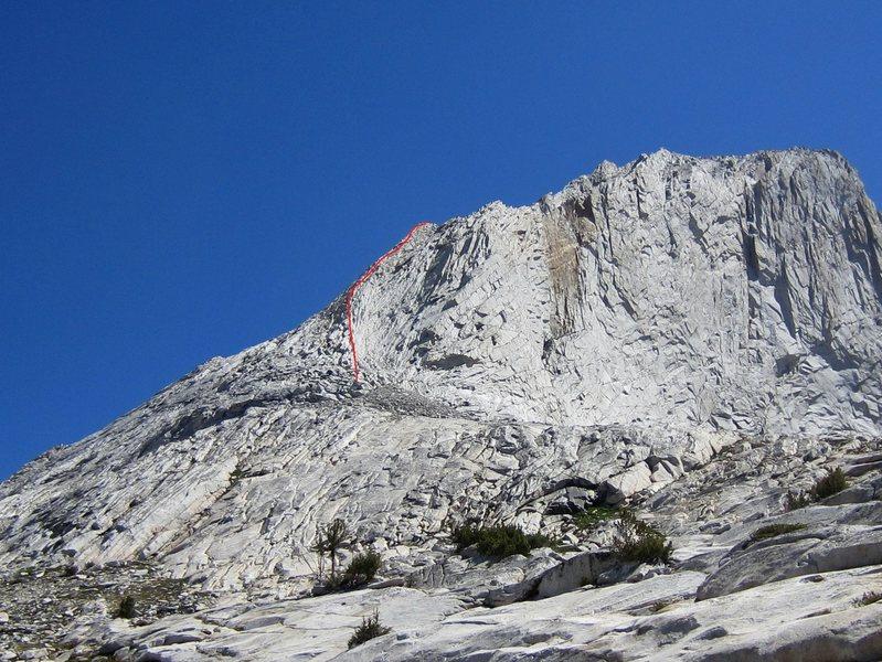 Start of West Ridge overlay