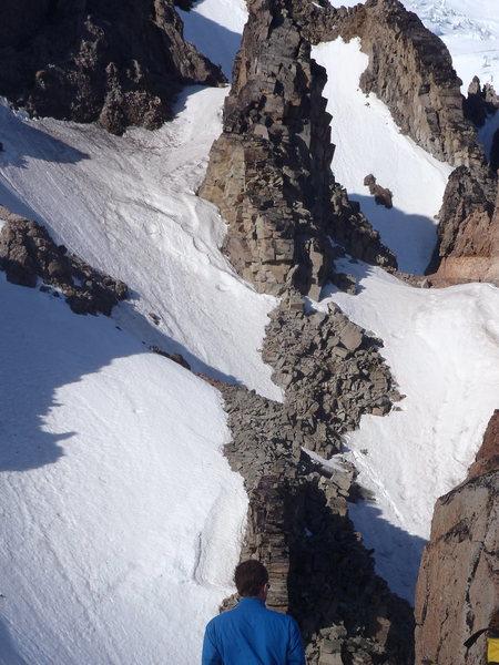Rock Climbing Photo: Elmo Pass Looking Up