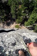 Rock Climbing Photo: Looking down from the summit in this pic it is eas...