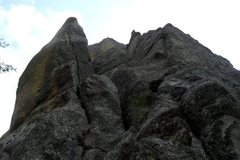 Rock Climbing Photo: Looking up the pitch 1 chimney system of the Conn ...