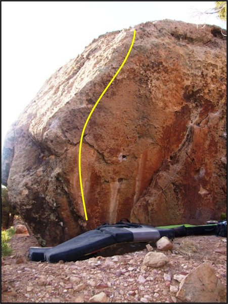 Hot Diggity problem on the Blacked Out Boulder.
