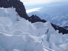 Rock Climbing Photo: Seracs and Crevasses