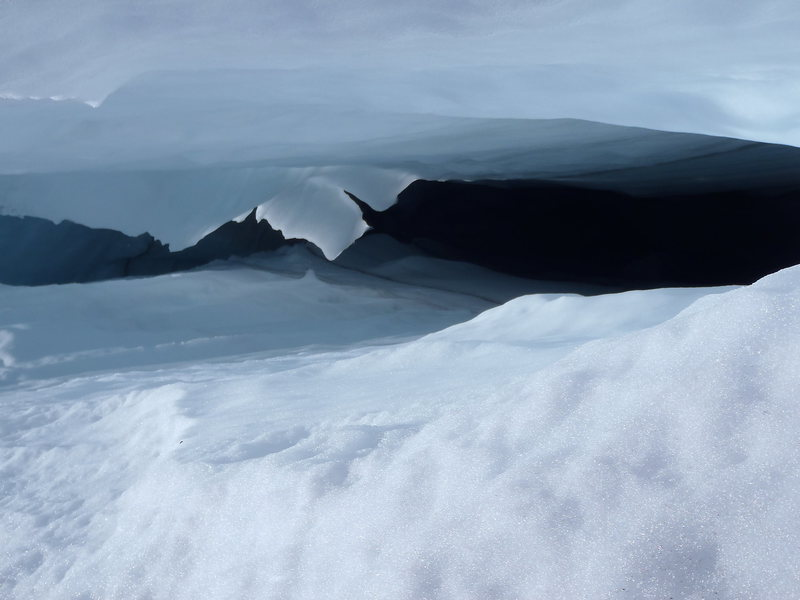 Rock Climbing Photo: Winthrop Glacier Crevasse