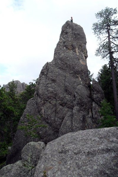 Brenda on the Pronghorn summit