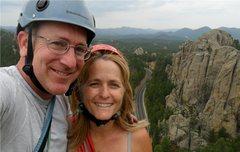 Rock Climbing Photo: Dire Spire summit couple