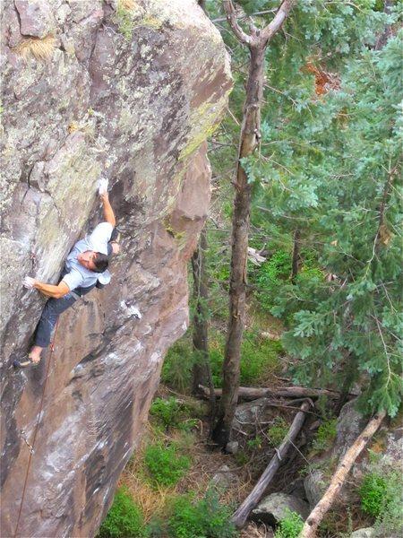 Rock Climbing Photo: Colin on the FA.