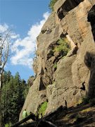 Rock Climbing Photo: Chace belaying Anne Minard on HHH.  Nice to meet y...
