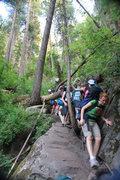 Rock Climbing Photo: the hike down