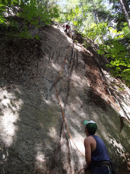 Rock Climbing Photo: Me leading on the FA.Jimmy Jazz on belay. Photo by...