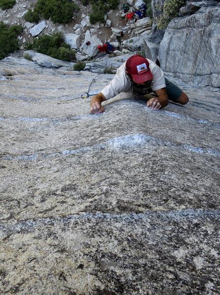 Rock Climbing Photo: Fun thin moves on Power Lust. 7/2012.   Photo: Dav...