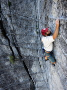 Rock Climbing Photo: Upper moves on Power Lust. 7/2012.   Photo: Dave S...