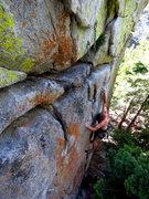Rock Climbing Photo: caughtinside cruising the redpoint of God of Thund...
