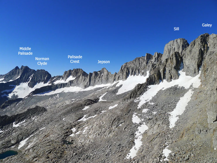 peaks to the NW