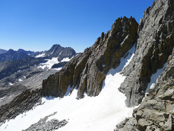 Rock Climbing Photo: looking NW from the final section on Galey