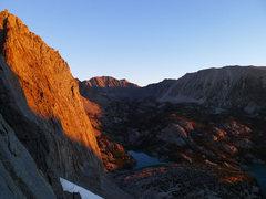Rock Climbing Photo: alpen glow