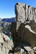 Rock Climbing Photo: 5.7 hand crack downclimb/rap