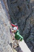 Rock Climbing Photo: The awesome exposed ledge on the top of the third ...
